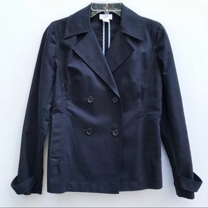 LOFT navy double breasted peacoat style blazer 296